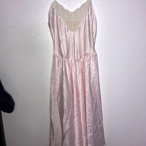 Vintage Rosy Pink Victoria Secret Lingerie Dress